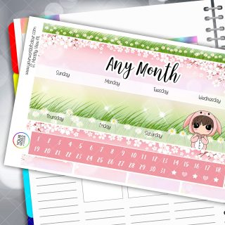 Bunny Monthly Planner Sticker Kit