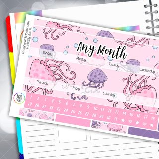 Jellyfishes Monthly Planner Kit