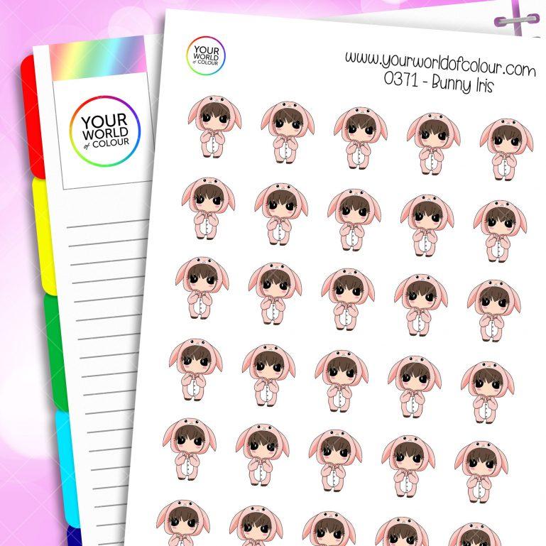 Bunny Iris Character Stickers