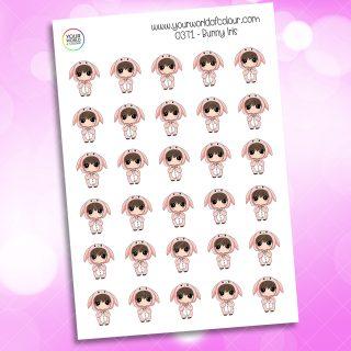 Bunny Iris Character Sticker