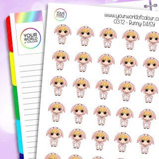 Bunny Daisy Character Stickers