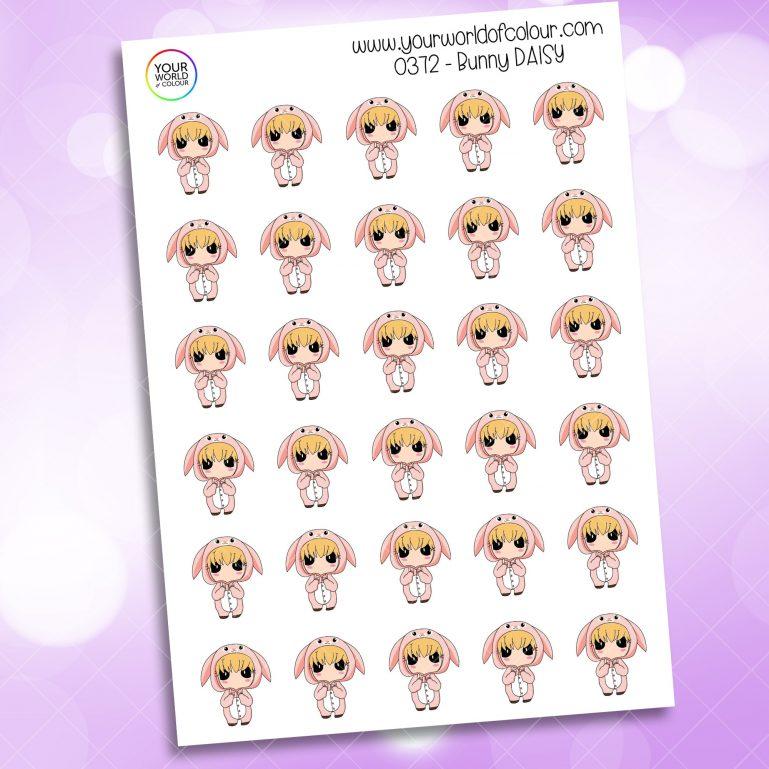 Bunny Daisy Character Sticker