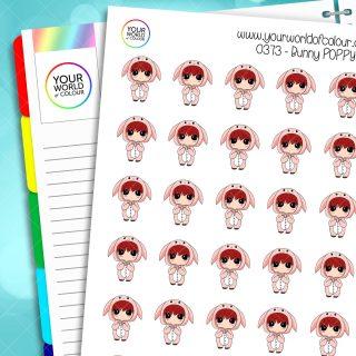 Bunny Poppy Character Stickers