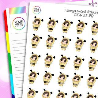 Bee Iris Character Stickers