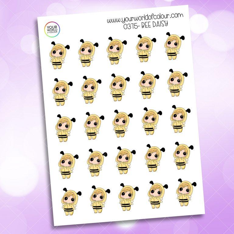 Bee Daisy Character Sticker