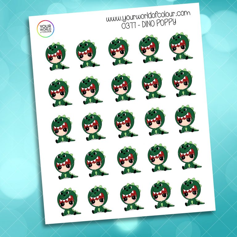 Dino Poppy Character Sticker