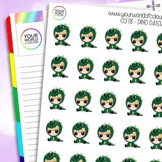 Dino Daisy Character Stickers