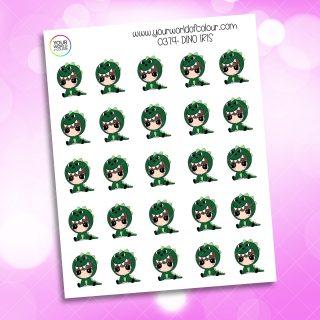 Dino Iris Character Sticker