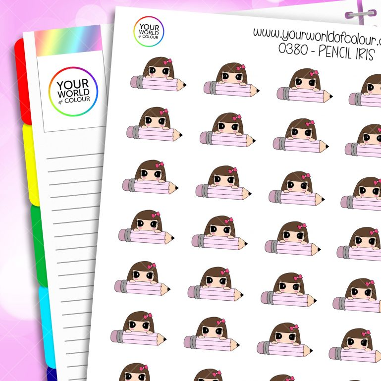 Pencil Iris Character Stickers