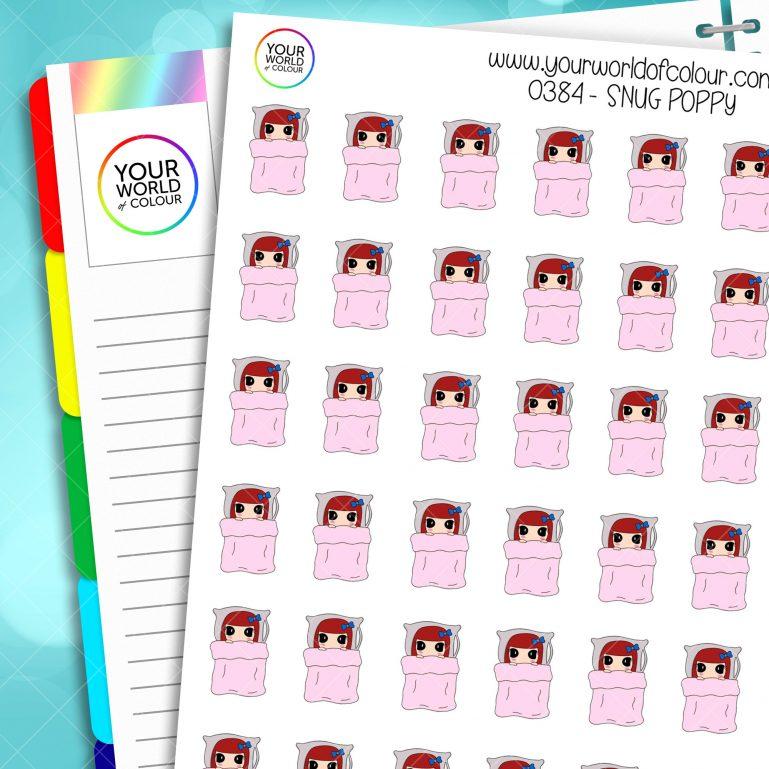 Snug Poppy Character Stickers