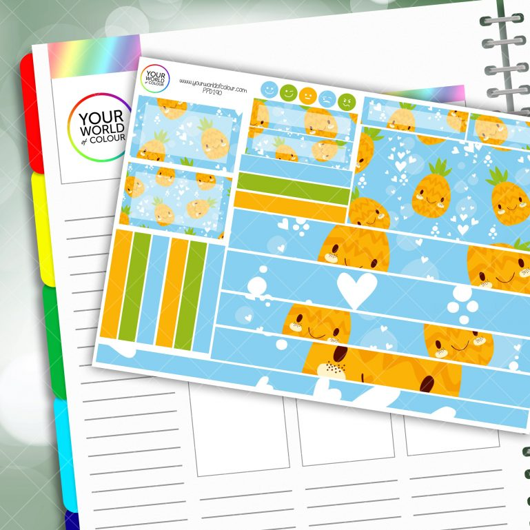 Pineapples Passion Planner Daily Sticker Kit