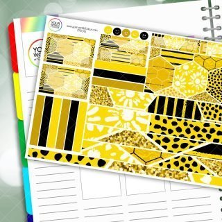 Honeycomb Passion Planner Daily Sticker Kit