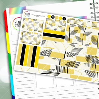 Springtime Leaves Passion Planner Daily Sticker Kit
