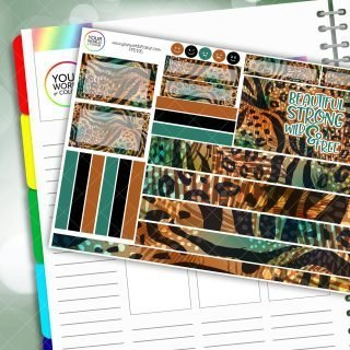 Wild and Free Passion Planner Daily Sticker Kit