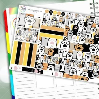 Put Your Paws Up Passion Planner Daily Sticker Kit