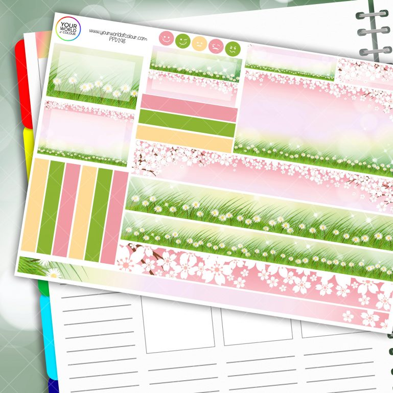 Blossom Passion Planner Daily Sticker Kit