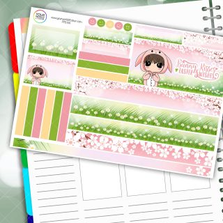 Bunny Kisses Passion Planner Daily Sticker Kit