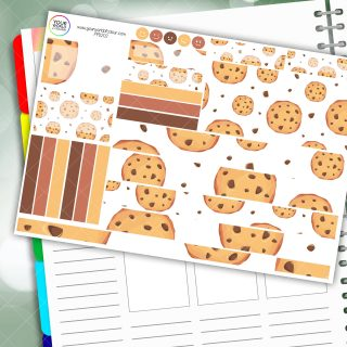Cookies Passion Planner Daily Sticker Kit