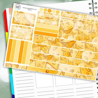 Cheesy Passion Planner Daily Sticker Kit