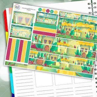 Snail Haven Passion Planner Daily Sticker Kit