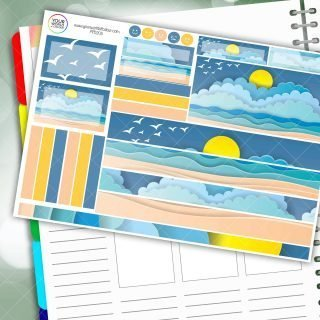 Sunny Beach Passion Planner Daily Sticker Kit