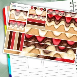 Choc Strawberry Dream Cream Passion Planner Daily Sticker Kit