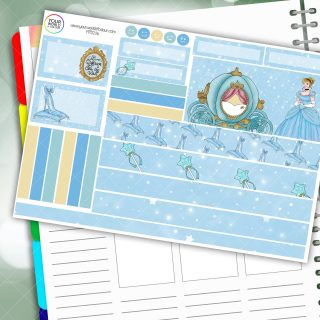 Cinderella Passion Planner Daily Sticker Kit