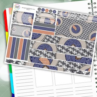 Donut Waffle Passion Planner Daily Sticker Kit
