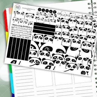 Panda Life Passion Planner Daily Sticker Kit