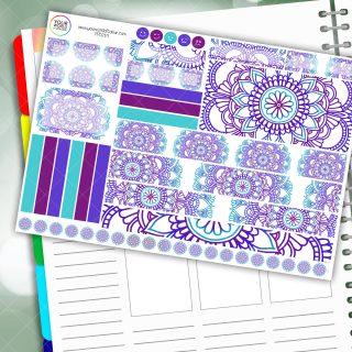 Passion Mandala Passion Planner Daily Sticker Kit