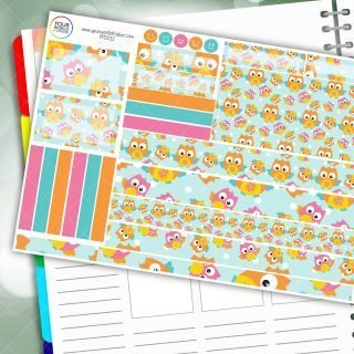 Owls Passion Planner Daily Sticker Kit