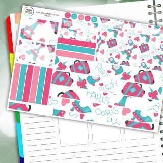 Paris Passion Planner Daily Sticker Kit