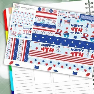 4th Of July Passion Planner Daily Sticker Kit