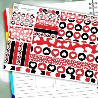 All The Love Passion Planner Daily Sticker Kit