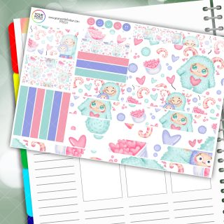 Love Monster Planner Daily Sticker Kit