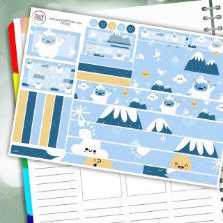 Snow Yeti Passion Planner Daily Sticker Kit