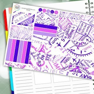Travel Stamp Passion Planner Daily Sticker Kit