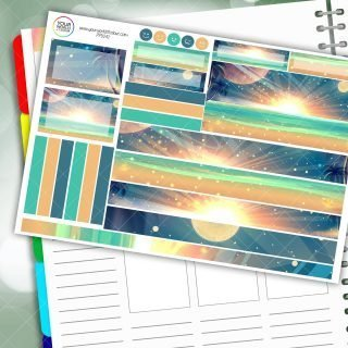 Beach Haven Passion Planner Daily Sticker Kit