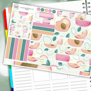 Lifes a Peach Passion Planner Daily Sticker Kit