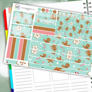 Gingerbread Passion Planner Daily Sticker Kit