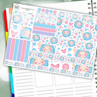 Fluff Love Passion Planner Daily Sticker Kit