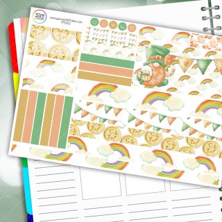 Irish Gnome Passion Planner Daily Sticker Kit