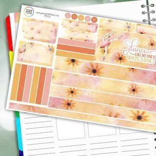 Dance Passion Planner Daily Sticker Kit