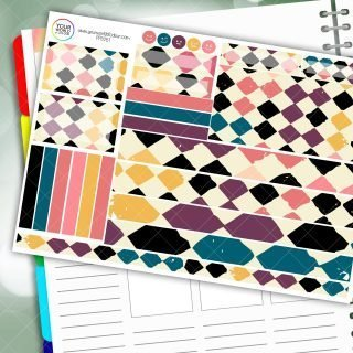 Chequered Diamond Passion Planner Daily Sticker Kit