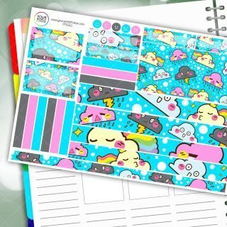 Whatever The Weather Passion Planner Daily Sticker Kit