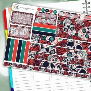 Skull Rose Candy Passion Planner Daily Sticker Kit