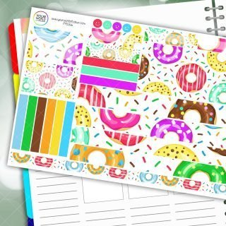 Sprinkle Donuts Passion Planner Daily Sticker Kit
