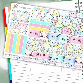 Cloudy Moon Passion Planner Daily Sticker Kit