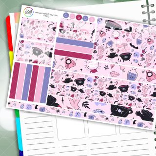 Witch Asthetic Passion Planner Daily Sticker Kit