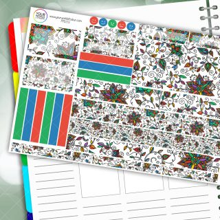 Doodle Flower Passion Planner Daily Sticker Kit